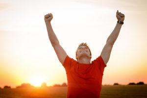 Male Runner Success