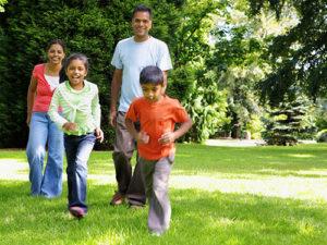 family-fit-walking
