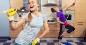 music-housework